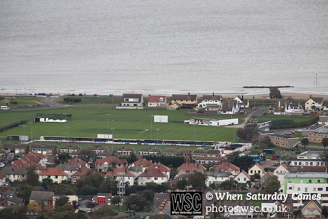Prestatyn Town 0 Port Talbot Town 0, 19/10/2013. Bastion Gardens, Welsh Premier League. The action at Bastion Gardens during the first-half of the match between Prestatyn Town and visitors Port Talbot Town in the Welsh Premier League as seen from Gwaenysgor. Prestatyn Town were Welsh Cup winners in 2013. The match ended goalless and was watched by 211 spectators. Photo by Colin McPherson.