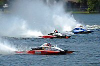 """Tom Thompson, A-52 """"Fat Chance Too"""", Andrew Tate, A-25 """"Fat Chance"""" and Kevin Kreitzer, A-64 """"Blue Devil"""" (2.5 MOD class hydroplane(s)"""