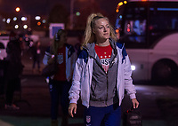COLUMBUS, OH - NOVEMBER 07: Becky Sauerbrunn #4 of the United States enters the stadium during a game between Sweden and USWNT at Mapfre Stadium on November 07, 2019 in Columbus, Ohio.