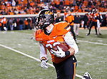 Oklahoma State Cowboys wide receiver Christian Schroeder (33) in action during the game between the Oklahoma Sooners and the Oklahoma State Cowboys at the Boone Pickens Stadium in Stillwater, OK. Oklahoma State defeats Oklahoma 44 to 10..