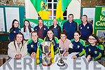 Kerry Camogie  Awards: Pictured at the Kerry Camogie Awards night at the Columbus Hazll, Kilflynn on Saturday nifgt last were in front members of the Kerry team that won the Premier Junior All Ireland Brid Horan, Jackie Horgan, Niamh Leen, captain, Aoife Behan, Julianne O'Keeffe & Emma Lawlor. Back: Amy McCarthy & Niamh Gentleman, join captains U/14 team, Eoin Lawlor, minor manager, Kevin O'Sullivan, U/14 manager, Joe Walsh, U/16 Manager & James McCarthy, minor coach.