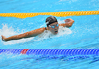 August 01, 2012..Natsumi Hoshi competes in Women's 200m Butterfly Final at the Aquatics Center on day five of 2012 Olympic Games in London, United Kingdom.