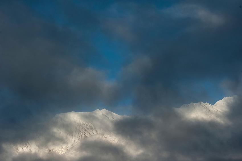Kenai Mountains, Snow River, Alaska.