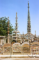 Los Angeles: Watts Towers. Photo '85. Built by construction worker Simon Rodia from 1921 t0 1953. 17 interconnected structures. National Historic Landmark, 1990. Photo '85.
