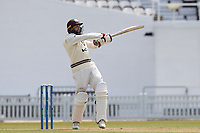 Hashim Amla pulls a short delivery square of the wicket during Surrey CCC vs Hampshire CCC, LV Insurance County Championship Group 2 Cricket at the Kia Oval on 30th April 2021