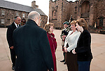 Fiona Hyslop, Cabient Secretary for Culture and External Affairs greets Her Excellency Ms. Alice Samaan (Embassy of The Kingdom of Bahrain) on her arrival at Edinburgh Castle for a reception and dinner hosted by Alex Salmond First Minister of Scotland..Pic Kenny Smith, Kenny Smith Photography.6 Bluebell Grove, Kelty, Fife, KY4 0GX .Tel 07809 450119,