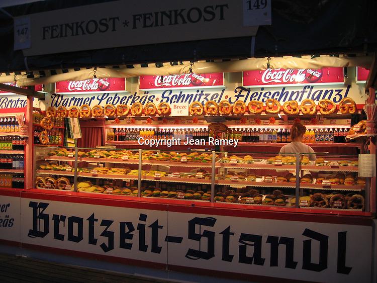 Pretzel stand at Oktoberfest - Munich, Germany