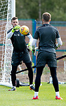 St Johnstone Training….09.08.18<br />Goalkeeper Conor Mitchell pictured during training at McDiarmid Park ahead of Sunday's game against Hibs<br />Picture by Graeme Hart.<br />Copyright Perthshire Picture Agency<br />Tel: 01738 623350  Mobile: 07990 594431