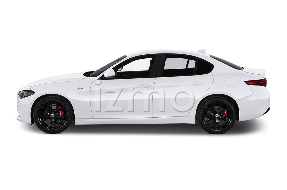 Car Driver side profile view of a 2020 Alfaromeo Giulia Sprint 4 Door Sedan Side View