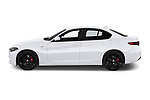 Car Driver side profile view of a 2020 Alfaromeo Giulia Sprint 4 Door Sedan Side View