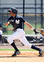 March 26, 2010:  Infielder Kelvin Castro of the New York Yankees organization during Spring Training at the Yankees Minor League Complex in Tampa, FL.  Photo By Mike Janes/Four Seam Images