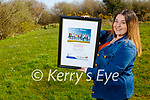 Amy Roche from Tralee who is the overall winner at the Lee Strand Kerry Garda Youth Achievement awards ceremony
