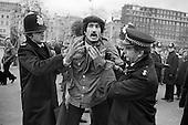 Tony Allen arrested at Speakers' Corner, Hyde Park, London; 1979.
