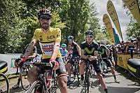 yellow jersey / GC leader Thomas de Gendt (BEL/Lotto-Soudal) at the start<br /> <br /> Stage 6: Le parc des oiseaux/Villars-Les-Dombes › La Motte-Servolex (147km)<br /> 69th Critérium du Dauphiné 2017