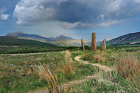 SC - INNER HEBRIDES - ISLAND of ARRAN<br /> The famous Megaliths of  Auchagallon Stone  Circle on the windswept plateau of Machrie Moor<br /> <br /> Full size: 69,2 MB