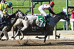 Zo Impressive with Rajiv Maragh score an upset victory in the Grade I $300,000 Mother Goose Stakes for 3-year old fillies going 1 1/16 mile at Belmont Park. Trainer Thomas Albertrani.  Owner Live Oak Plantation.