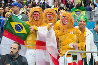 England fans dressed as a lions