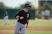 Chicago White Sox catcher Zach Collins (33) rounds third base during an Instructional League game against the San Diego Padres on September 26, 2017 at Camelback Ranch in Glendale, Arizona. (Zachary Lucy/Four Seam Images)
