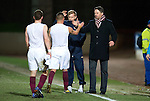 Hearts v St Johnstone...14.02.12.. Scottish Cup 5th Round Replay.Paulo Sergio congratulates his players at full time.Picture by Graeme Hart..Copyright Perthshire Picture Agency.Tel: 01738 623350  Mobile: 07990 594431