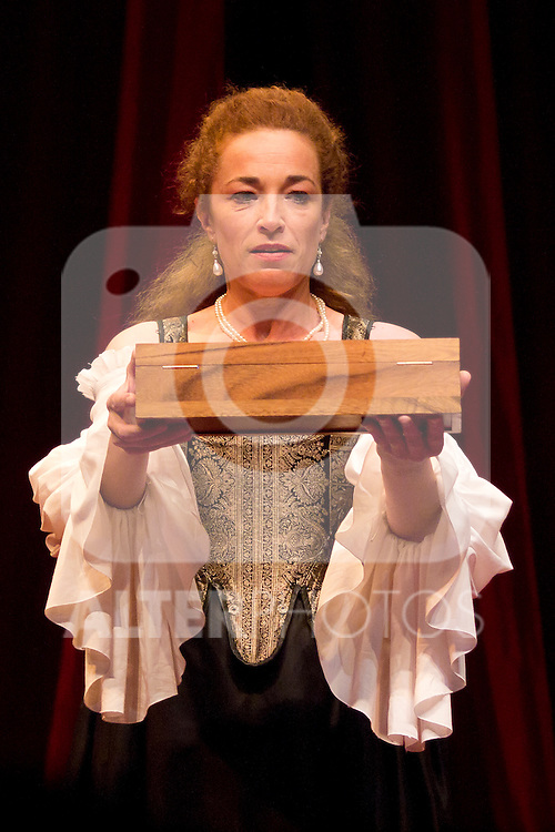 12.06.2012. Press pass of 'The School of Disobedience' at the Teatro Bellas Artes in Madrid. Directed by Luis Luque and starring by Maria Adánez and Cristina Marcos. In the image Cristina Marcos (Alterphotos/Marta Gonzalez)