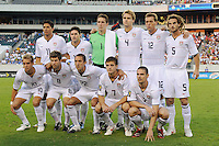 United States (USA) starting XI. The United States (USA) defeated Panama (PAN) 2-1 during a quarterfinal match of the CONCACAF Gold Cup at Lincoln Financial Field in Philadelphia, PA, on July 18, 2009.