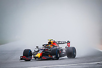 29th August 2021; Spa Francorchamps, Stavelot, Belgium: FIA F1 Grand Prix of Belgium,  race day: 11 PEREZ Sergio (mex), Red Bull Racing Honda RB16B during the formation laps in heavy rain before cancellation of the race due to standing water
