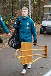 06.12.2018, Trainingsgelaende am Weserstadion, Bremen, GER, 1.FBL, Training SV Werder Bremen<br /> <br /> im Bild<br /> Jan-Niklas Beste (Werder Bremen #39) mit Ballsack und Dummies / Spielerattrappen, <br /> <br /> Foto © nordphoto / Ewert