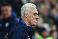 Ipswich Town manager Mick McCarthy prior to kick off of the Sky Bet Championship match between Cardiff City and Ipswich Town at The Cardiff City Stadium, Cardiff, Wales, UK. Tuesday 31 October 2017
