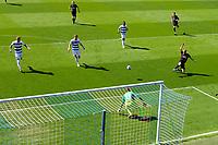 24th April 2021; The Kiyan Prince Foundation Stadium, London, England; English Football League Championship Football, Queen Park Rangers versus Norwich; Teemu Pukki of Norwich City has a shot on goal