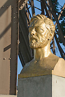 Gilded Bust of Gustave Eiffel at the base of the Eiffel Tower