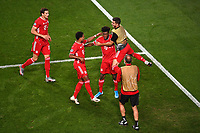 23rd August 2020, Estádio da Luz, Lison, Portugal; UEFA Champions League final, Paris St Germain versus Bayern Munich; Kingsley Coman of FC Bayern Munich celebrates after scoring his team's first goal