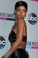 LOS ANGELES, CA - NOVEMBER 24: Rihanna in the press room at the 2013 American Music Awards held at Nokia Theatre L.A. Live on November 24, 2013 in Los Angeles, California. (Photo by Celebrity Monitor)