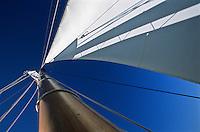 Europe/France/Aquitaine/33/Gironde/Bassin d'Arcachon/Le Cap Ferret: Navigation sur le bac à voile : l'Escalumade