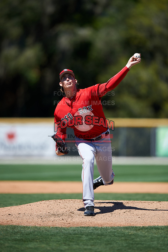 Boston Red Sox pitcher Henry Owens during a minor league Spring Training game against the Baltimore Orioles on March 16, 2017 at the Buck O'Neil Baseball Complex in Sarasota, Florida. (Mike Janes/Four Seam Images)