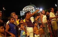 BRAZIL, state Amazon, city Manaus, opera house Teatro Amazonica, built 1883-1896  / BRASILIEN Amazonas Manaus , Opernhaus Teatro Amazonas 1896 nach europaeischem Vorbild im Stile des neoklassischen Eklektizismus erbaut, das Opernhaus war auch Drehort fuer den Werner Herzog Film Fitzcarraldo mit Klaus Kinski