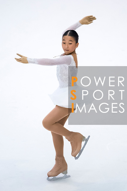 Azhar Zhumakhanova during the Asian Junior Figure Skating Challenge 2015 on October 07, 2015 at the Festival Walk Mall in Hong Kong, China. Photo by Aitor Alcalde/ Power Sport Images