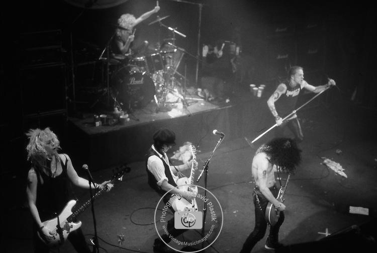 Guns and Roses  performing live in 1988 at The Ritz in New York City. All Original Members Duff McKagan , Izzy Stradlin, Axl Rose, Slash, Steven Adler