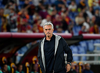 Calcio, Serie A: AS Roma vs Udinese, Olympic stadium, September 23, 2021.<br /> Roma's coach José Mourinho looks on during the Italian Serie A football match between Roma and Udinese at Rome's Olympic stadium, on September 23, 2021.<br /> UPDATE IMAGES PRESS/Isabella  Bonotto