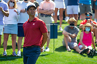 14th March 2021; Ponte Vedra Beach, Florida, USA;   Adam Scott of Australia on the 18th hole during the final round of THE PLAYERS Championship on March 14, 2021 at TPC Sawgrass Stadium Course in Ponte Vedra Beach, Fl.