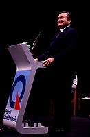 Jean Garon<br /> take part in a debate between all candidates in the Parti Quebecois leadership race which was eventually won by Pierre-Marc Johnson,September 14,1985.<br /> <br /> He just died , July 2md 2014 at age 76.<br /> <br />  File Photo : Agence Quebec Presse  - Pierre Roussel