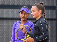 Amstelveen, Netherlands, 6 Juli, 2021, National Tennis Center, NTC, Amstelveen Womans Open, Doubles Noa Liauw A Fong (NED) and Gabriella Mujan (NED) (R)<br /> Photo: Henk Koster/tennisimages.com