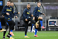 26th September 2020, San Siro Stadium, Milan, Italy; Serie A Football, Inter Milan versus Fiorentina;  Arturo Vidal  warms up for Inter