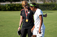 CARSON, California - Saturday August 25, 2012: The US Women's U-17 National team defeated the National team of China 4-1 during an international friendly match held at Home Depot Center.
