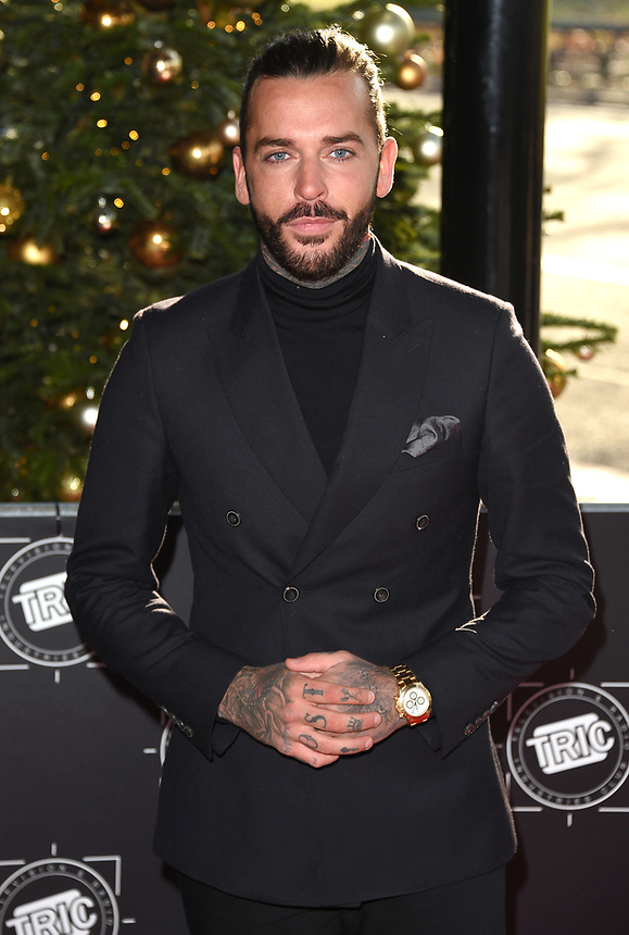 Pete Wicks<br /> arriving for the TRIC Christmas Party, Grosvenor House Hotel, London.<br /> <br /> <br /> ©Ash Knotek  D3362  12/12/2017