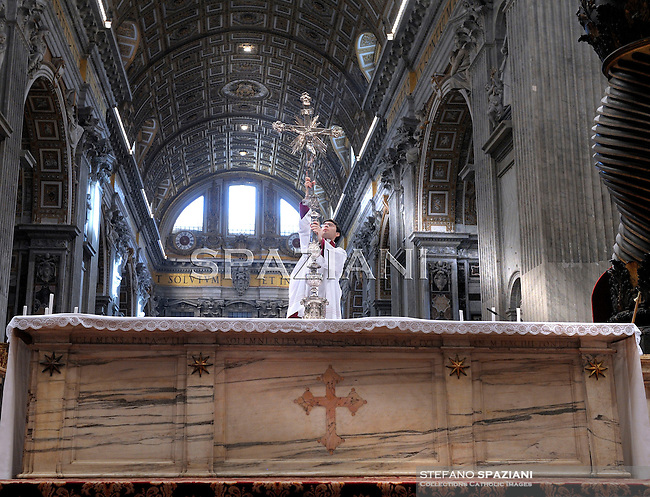 Altar boy; Chierichetto;Pope Benedict XVI celebrates mass in the Vatican Basilica of St. Peter, at the conclusion of the Special Synod for the Middle East October 24, 2010,