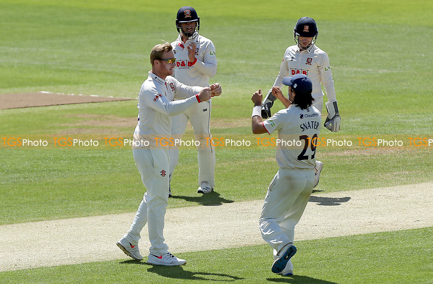 Simon Harmer of Essex celebrates taking the wicket of Liam Patterson-White during Essex CCC vs Nottinghamshire CCC, LV Insurance County Championship Group 1 Cricket at The Cloudfm County Ground on 5th June 2021