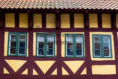 Denmark, Zealand, Koge: facade of Half timbered house   Daenemark, Insel Seeland, Koege: Fassade eines Fachwerkhauses