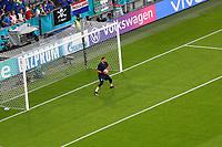 Torwart/Goalie Gianluigi Donnarumma (Italien, Italy, Italia)<br /> - Muenchen 02.07.2021: Italien vs. Belgien, Viertelfinale, Allianz Arena Muenchen, Euro2020, emonline, emspor, Playoffs, Quarterfinals<br /> <br /> Foto: Marc Schueler/Sportpics.de<br /> Nur für journalistische Zwecke. Only for editorial use. (DFL/DFB REGULATIONS PROHIBIT ANY USE OF PHOTOGRAPHS as IMAGE SEQUENCES and/or QUASI-VIDEO)