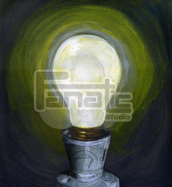 Illustration of light bulb
