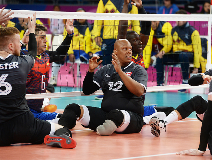 Jamoi Anderson, Lima 2019 - Sitting Volleyball // Volleyball assis.<br /> Canada competes in men's Sitting Volleyball // Canada participe au volleyball assis masculin. 24/08/2019.